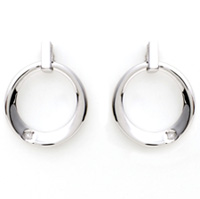 Sterling Silver and Diamond Contemp Earrings