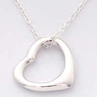 Sterling Silver Floating Heart Necklace