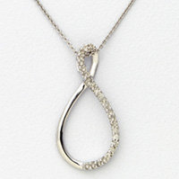 White Gold and Diamond Infinity Pendant