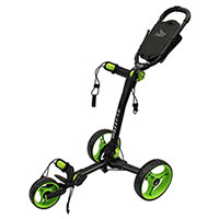 Black/Green TriLite 3-Wheel Push Cart