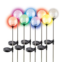 8PK Crackled Solar Color Lights