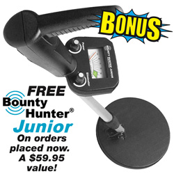 Quicksilver And Bounty Hunter Jr. Metal Detector Bonus Pack  Model# QSIBHJS