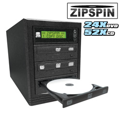 Zipspin 2-in-1 DVD/CD Duplicator&nbsp;&nbsp;Model#&nbsp;Z2DVDSATA