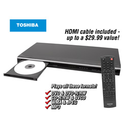 Toshiba Upconverting DVD Player  Model# SDK1000
