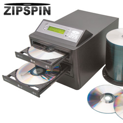 ZipSpin Duplicator with 100 DVDs  Model# DVD121-PRO-D100