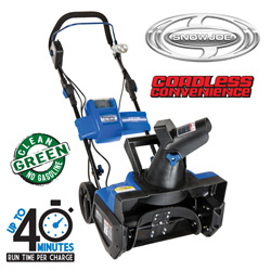 Cordless Rechargeable Snowblower  Model# ION18SB