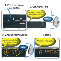Slick Alarm Clock  Model# VR-1