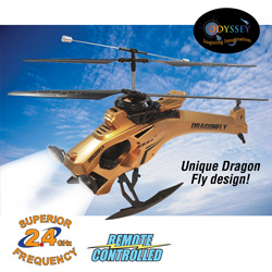 Dragon Fly R/C Helicopter - Gold  Model# ODY-808-G