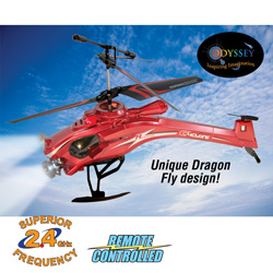Dragon Fly R/C Helicopter - Red  Model# ODY-808-R