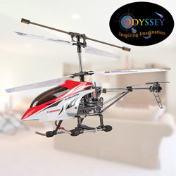 R/C Helicopter - Red  Model# ODY-333R