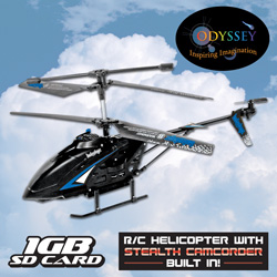 Blue R/C Night Hawk with Camera  Model# ODY-007B