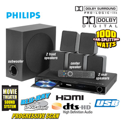 Philips Blu-Ray Home Theater System  Model# HTS-3051B