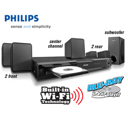 Philips Blu-Ray Home Theater with WiFi&nbsp;&nbsp;Model#&nbsp;HTS3106/F7