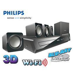 Philips 3D/Blu-Ray Home Theater System  Model# HTS3541/F7