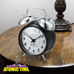 Dual Bell Atomic Alarm Clock  Model# IRC016