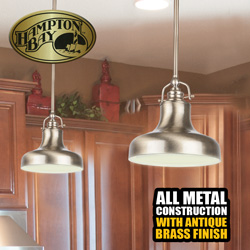 Hampton Bay Pendant Lights - 2 Pack  Model# 236708