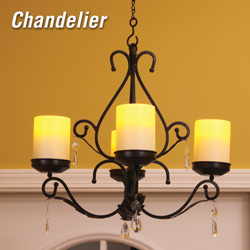 Charleston 3-in-1 Lamp  Model# FLA-CHANDEL-BK