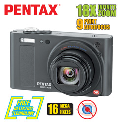 Pentax Optio 16MP Digital Camera&nbsp;&nbsp;Model#&nbsp;RZ18-BLACK