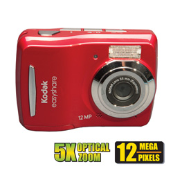 Kodak 12MP 5X Digital Camera  Model# C-15-RED