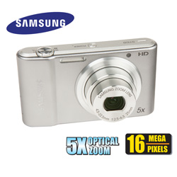 Samsung 16MP Digital Camera  Model# EC-ST68ZZFPSPA-SILVER