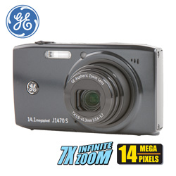 GE 14MP Digital Zoom Camera  Model# J1470S-BK