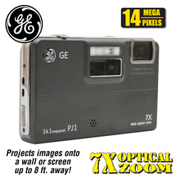 GE 14MP Digital Camera/Projector  Model# PJ1