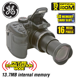 GE 16MP Digital Zoom Camera  Model# X500