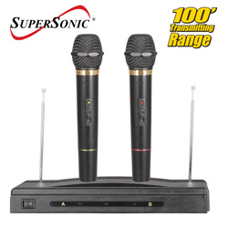 Professional Dual Wireless Microphone System  Model# SC-900