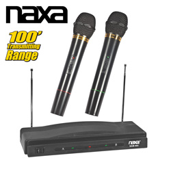 Dual Wireless Microphone System  Model# NAM-984