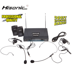 Professional Dual Headset Mic System&nbsp;&nbsp;Model#&nbsp;HS596
