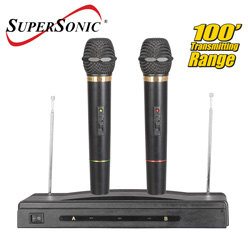 Professional Dual Wireless Mics&nbsp;&nbsp;Model#&nbsp;SC-900