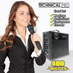 Portable PA System&nbsp;&nbsp;Model#&nbsp;WASP400