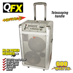 Portable PA System&nbsp;&nbsp;Model#&nbsp;PBX-2080-SILVER