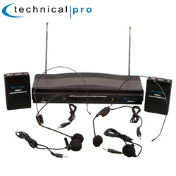 Dual Headset/Lapel Mic System  Model# WM241