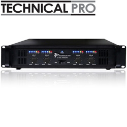 Technical Pro Power Amp/ 4 Channel/ 4000 Watts  Model# L4Z4001