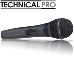 Technical Pro Grey Wired Mic  Model# MKG66