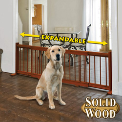 Expandable Wood Pet Gate&nbsp;&nbsp;Model#&nbsp;4465