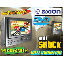 Axion Dual 7 Inch Portable DVD Player  Model# AXN-6979