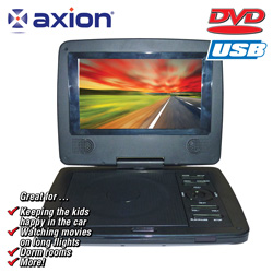 Axion 7 inch Swivel Screen DVD Player&nbsp;&nbsp;Model#&nbsp;LMD-8710
