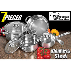 7 Piece Stainless Steel Cookware&nbsp;&nbsp;Model#&nbsp;WJ07-2091
