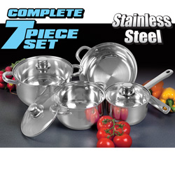 7 Piece Stainless Steel Cookware  Model# 1674401