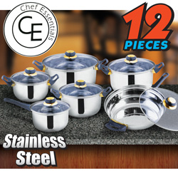 12 Piece Blue Star Cookware Set  Model# SC-SS004