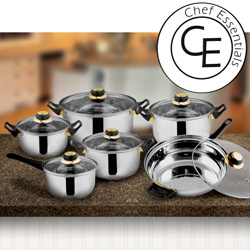 12 Piece Black Star Cookware Set  Model# SC-SS003