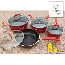 8PC Ceramic Cookware Set  Model# AL-08C