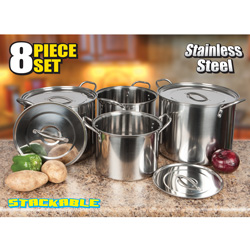 8 Piece Stock Pot Set  Model# 64370014437
