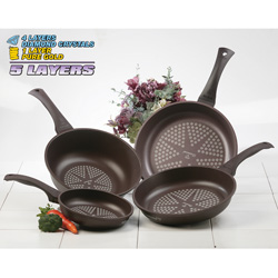 Diamond Coated Cookware Set  Model# 5PC