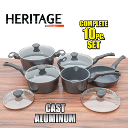 Heritage 10-Piece Cast Aluminum Cookware  Model# 04293204
