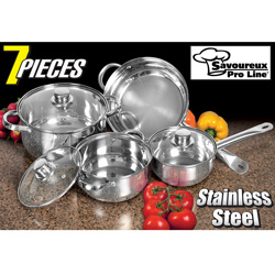 Stainless Steel 7-Piece Cookware Set  Model# WJ07-2091