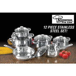 12-Piece Stainless Cookware Set  Model# WJ12-2007