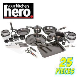 Hero 25-Piece Cookware Set  Model# CSS-2-2355